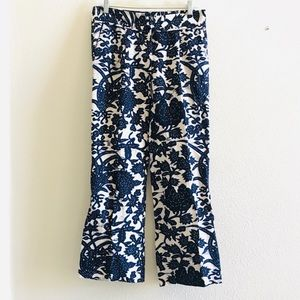 LOFT MARISA batik bouquet print pants trousers 0
